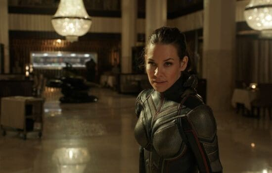evangeline lilly as hope van dyne aka the wasp in marvel's ant-man and the wasp