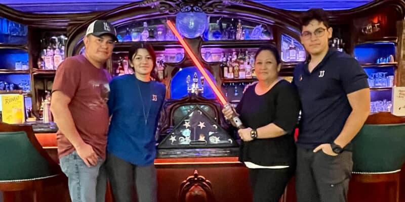disneyland lopez family lightsaber
