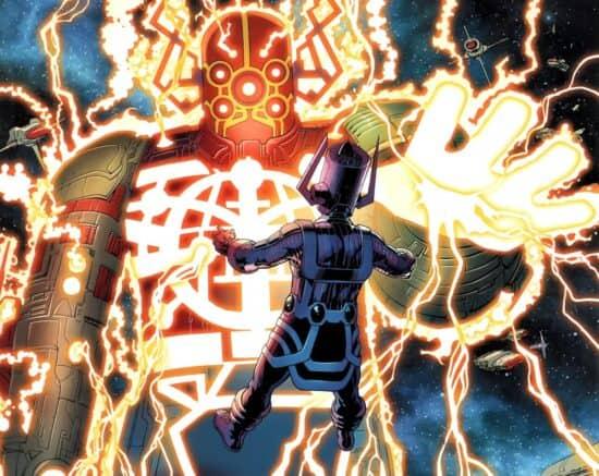 marvel comics celestial with galactus