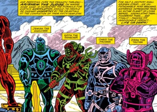 marvel comics celestial with names