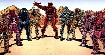 marvel comics celestials in armor