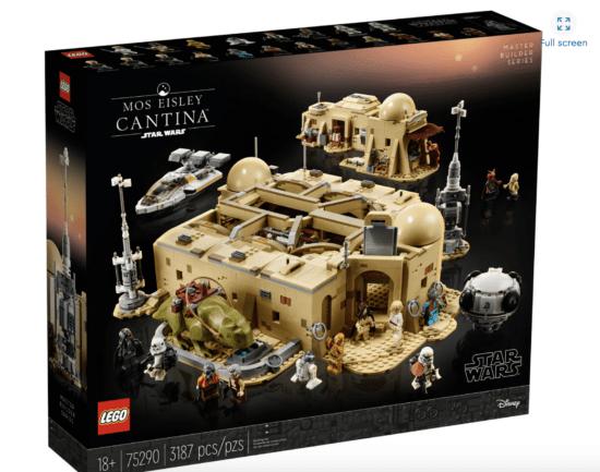 mos eisley cantina lego set box