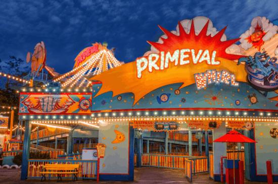 primeval whirl at night