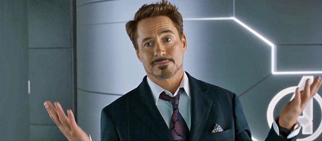 robert downey jr as tony stark.