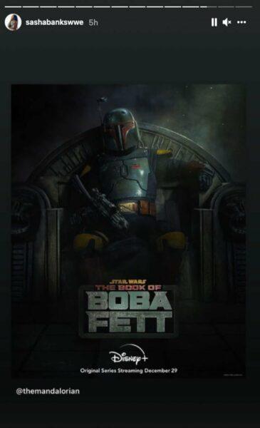 sasha banks star wars book of boba fett