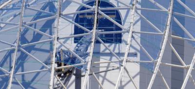 tron coaster close up