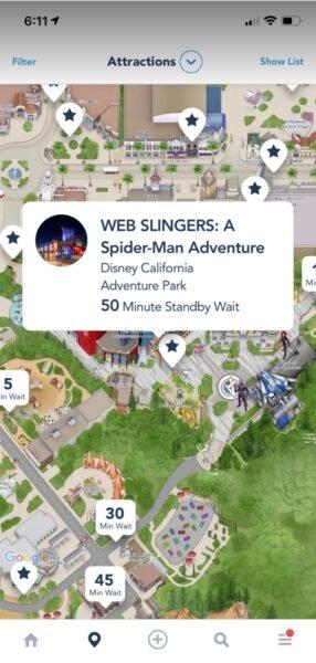 Web Slingers Wait Time