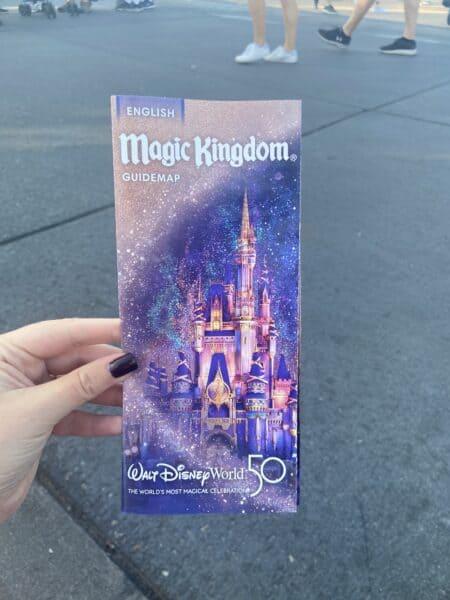 disney world magic kingdom 50th map
