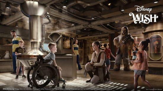 Star Wars cargo bay on disney wish