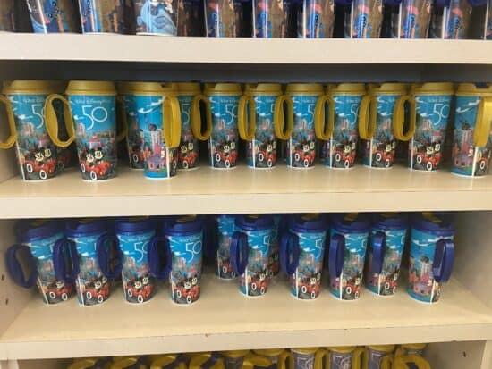 disney world 50th refillable mugs