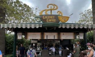 Cappuccino cart at disney California adventure
