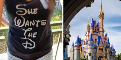 "disney shirt ""she wants the D"""