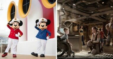 Disney characters on the disney wish experiences for kids