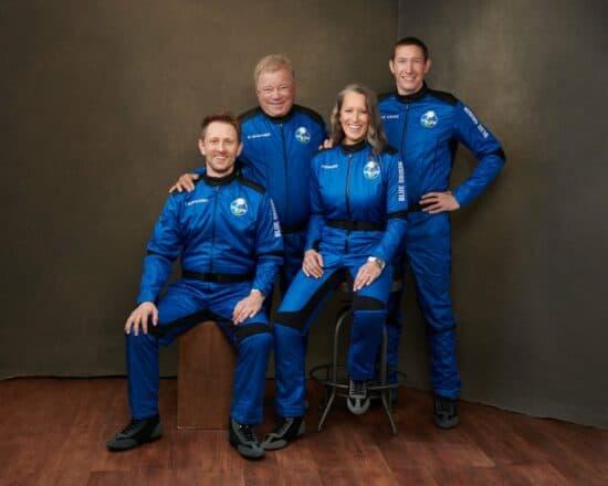 William Shatner with flight crew