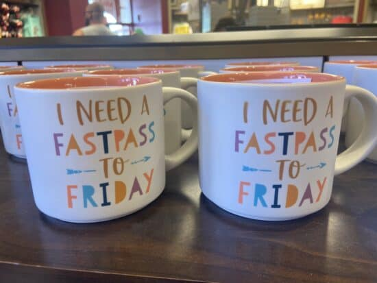 fastpass disney coffee mug