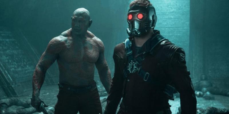 Drax (Bautista), Star-Lord (Pratt)