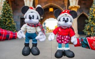 Mickey and Minnie Holiday Plush