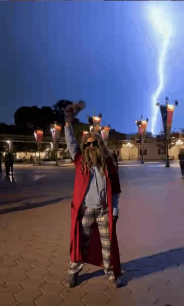 Disneyland Lightning