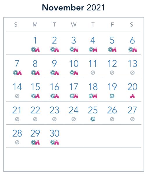 DL November Reservations