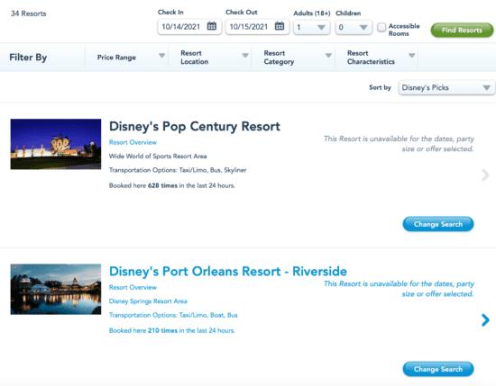 disney world reservation system