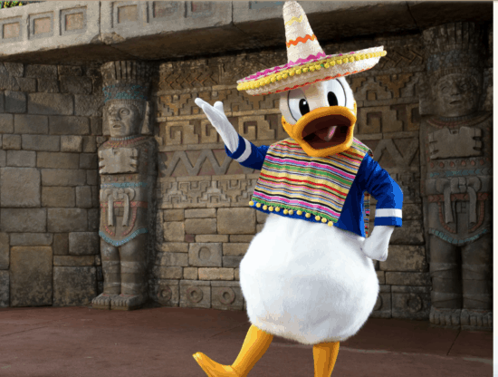 Donald duck at Mexico