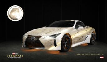 Thena x Lexus LC 500: Thena, played by Angelina Jolie, is a natural fit with the sleek and stylish Lexus LC 500.
