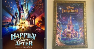 happily ever after poster (left) disney enchantment poster (right)