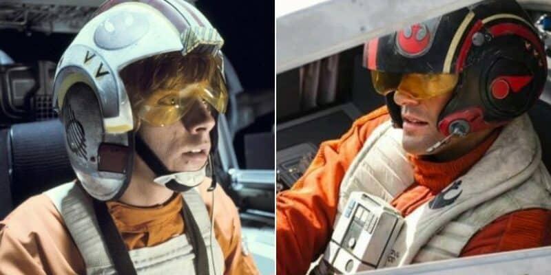 luke skywalker (left) and poe dameron (right)