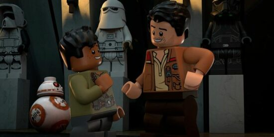 LEGO star wars terrifying tales dean (left) and poe (right)