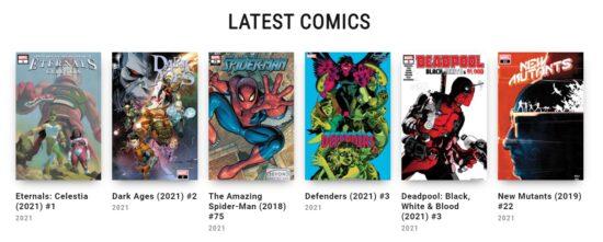 marvel comics releases